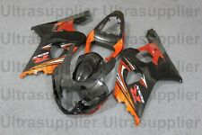 Orange Black Silver Complete Injection Fairing For 2004-2005 Suzuki GSXR 600 750