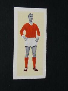 FOOTBALL FLEETWAY TIGER CARD 1963 #1 BOBBY CHARLTON MANCHESTER UNITED RED DEVILS