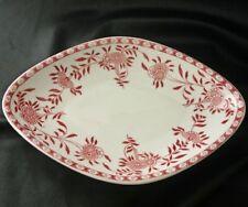 WALKER CHINA Red Floral Pattern Restaurant Ware Bowl