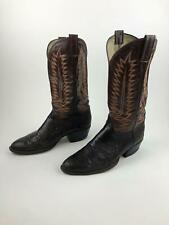 Men's Cowboy Western Boots, sz 11? Exotic Reptile Leather, Fancy Stitching