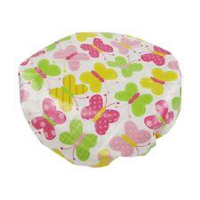 Kids Shower Cap Reusable Waterproof Pink Butterflies