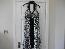 STAR BY JULIEN MACDONALD LADIES BEADED DRESS SIZE 8 BLACK WHITE ZEBRA PARTY