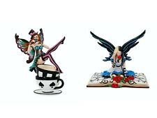 More details for mad hatter with teacup 16cm - alice in wonderland fairy 19cm new nemesis now