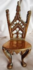 "Vintage Brass Kings chair approx 4"" great item"