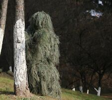 Ghillie Suit Camo Woodland Camouflage Forest Hunting 3D 5-Piece Clothing + Bag