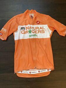 Castelli Podio Jersey Small Orange Aero Summer Lightweight Orange Ineos