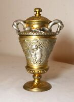 antique 1800's ornate auguste delafontaine bronze silver gold urn pen inkwell