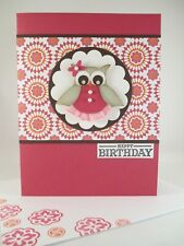 Stampin Up handmade card - Pink Punched Owl
