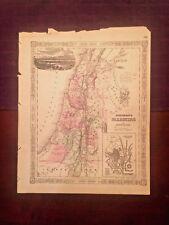 1863 Johnson & Ward Hand Color 00003160 ed Atlas Map of Palestine