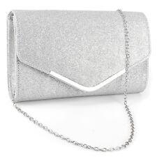 Dazzling Velvet Curved Envelope Clutch Bag Flap Topped V Bar Women Carry Purse