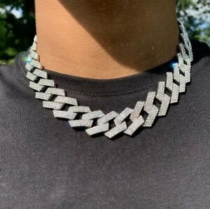 Mens Gold Silver Cuban Curb Link Bracelet Belcher Necklace Choker Icey Drip New