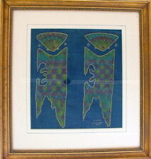 O WIJANA BALI MODERN ABSTRACT INDONESIA LAQCUER FIGURE PAINTING NEWMAN GALLERY