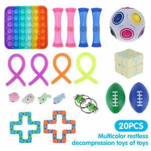 20pcs Fidget Toy Set Stress Relief Hand Tools Sensory Bundle SENS Autism ADHD UK