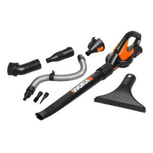 WORX WG545.1 20V PowerShare Cordless Blower w/Attachments