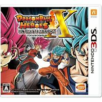 Very Good 3DS Dragon Ball Heroes Ultimate Mission X Import Japan