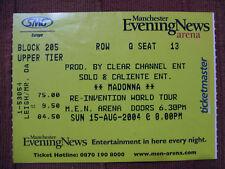 Biglietto Ticket MADONNA Re-inventionTour 2004 UK  Inghilterra no Rebel heart