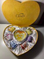 Set of 6 Casati Multi-Color Fine Porcelain Teacups & Tea Saucers Floral Germany
