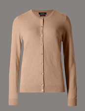Pure cashmere camel M&S size 12 cardigan BNWT