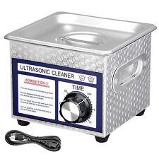 1.3L(1/3 Gallon) 60 Ultrasonic Cleaner w/ Timer Jewelry Glasses Tattoo Dental