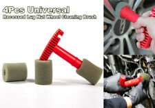 4X Recessed Lug Nut Wheel Cleaning Brush With Handle and Removable Insert Sponge