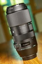 Sigma 100-400mm F5-6.3 obiettivo zoom autofocus-CANON EOS Fit. ottime CONDIZIONI.