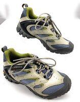Merrell Continuum Passage Ventilator Hiking Trail Shoes Gray Blue Women's 6 US