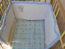 NUOVO Baby Sassi Paracolpi per lettino panna e azzurro