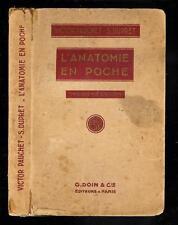 """Victor Pauchet & S. Dupret : L'anatomie en poche """" 3éme édition revue """" G. Doin"""