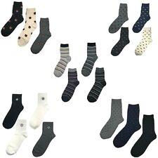3-4 Pairs Men Casual Dandy Casual Fashion Cotton Crew Socks Shoe Size 6-10