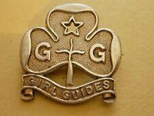 More details for vintage hallmarked silver promise badge girl guides  c1933