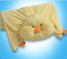 Chenille 4ft  x 3ft Yellow Duck Blanket 100% Authentic My Pillow Pet Boy & Girl