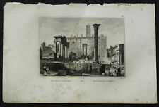 1836:ROMA,FORO ROMANO E CAMPIDOGLIO.LAZIO.AUDOT.Acciaio.etna