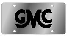 New GMC Retro Black Logo Stainless Steel License Plate