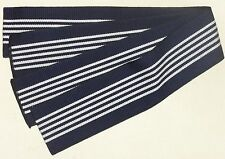 Men's Cotton Obi for Yukata Kimono Navy Blue Striped Tanzen New Made in Japan