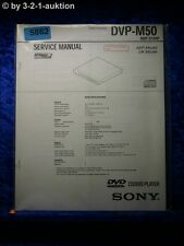 Sony Service Manual DVP M50 CD/DVD Player (#5862)