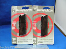 TWO Savage Model 64 Magazine Mag 22 LR 60 Series 10 Rd 62 954 LAKEFIELD 30005