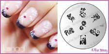 Konad Stamp Nail Art Decal Image Plate M23 OWL & CRANE