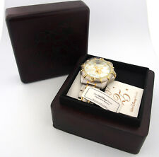 Mickey Mouse Two 2 Tone Character Watch in Wooden Box Walt Disney World b1