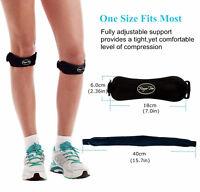Patella Strap Compression Knee Support Brace Jumper Runner Basketball Sports Gym