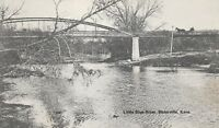 (S)  Waterville, KS - Little Blue River - Scenic View of River and Bridge