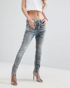 G-STAR RAW Women's Dadin 3D Low Waist Boyfriend Jeans W26 L30