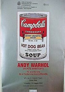 ANDY WARHOL  ORIGINAL CAMPBELL SOUP POSTER for 2000 ITALIAN EXHIBITION