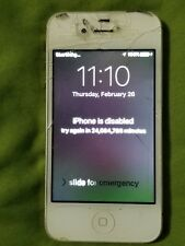 Apple iPhone 4s  - White A1387 As Is ***See Description***