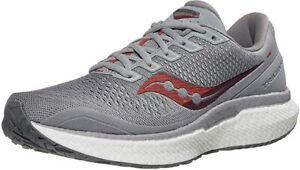 Saucony Men's Triumph 18 Running Shoe, Alloy/Red, 8 D(M) US