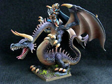 Age of Sigmar, Dark Elves Dreadlord on Great Dragon #1, PRO PAINTED, 1 model