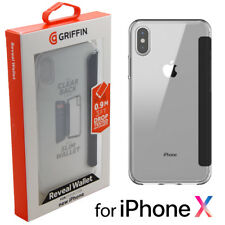 Griffin Reveal Wallet Case Cover Tough Rugged for iPhone X - Black/Clear NEW 10
