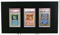 Framed Display for (3) PSA Graded Pokemon Cards