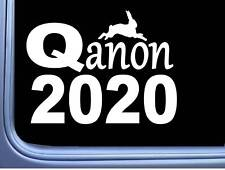 Qanon 2020 M441 8 inch Sticker Decal Q Anon Patriot white rabbit Trump election