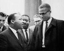 Martin Luther King Jr. and Malcolm X Washington DC March 26 1964 McMahan 10x8