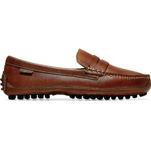 Cole Haan Mens Grant Canoe Tan Leather Loafers Shoes 7 Medium (D) BHFO 5538